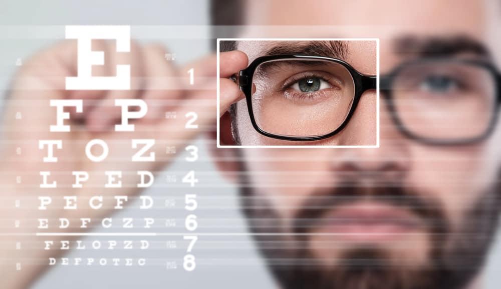 distancia para examen de la vista